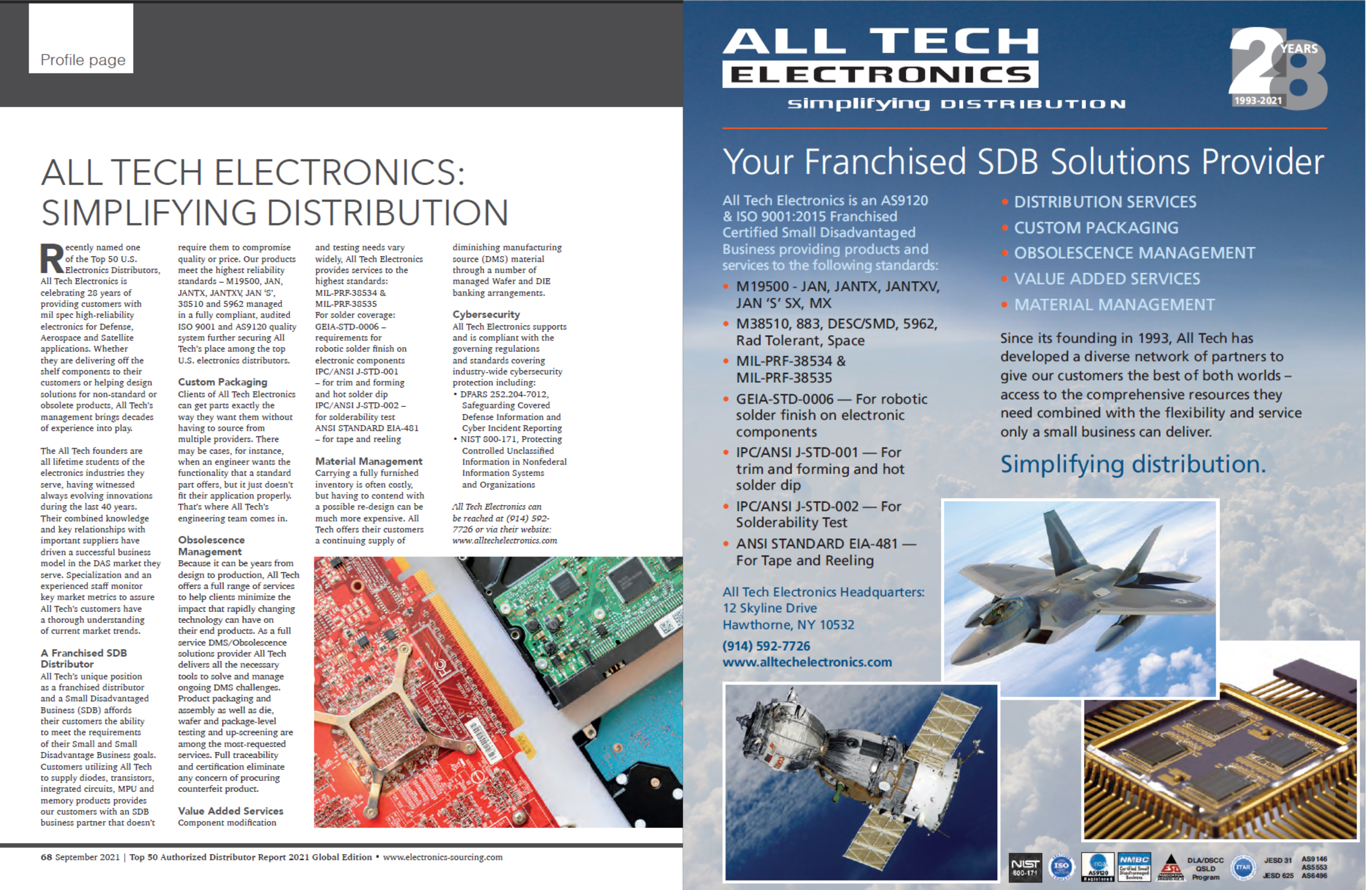 All Tech Electronics in Electronics Sourcing's Top 50 Distributors